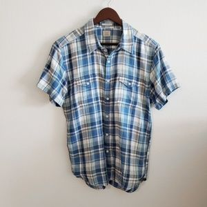 Lucky Brand California Fit Short Sleeve Button Up